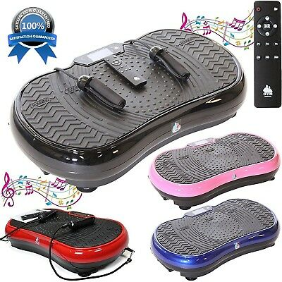 Gym Master 2700W Crazy Fit Vibration Massage Plate Bluetooth Speaker Touch Panel