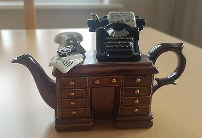 Cardew Teapot - Brown Cabinet with Typewriter and Gun