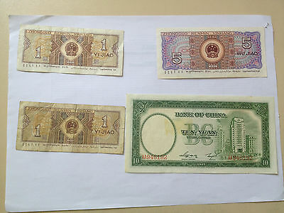 Lot de 6 Billets de CHINE