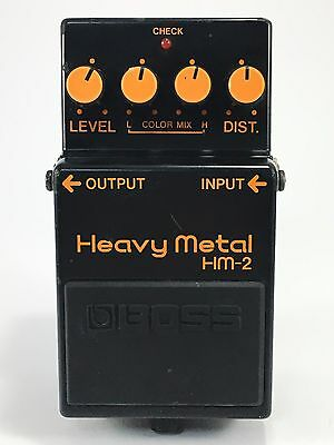 BOSS HM-2 Heavy Metal Made In Taiwan Vintage Guitar Effects Pedal 1988