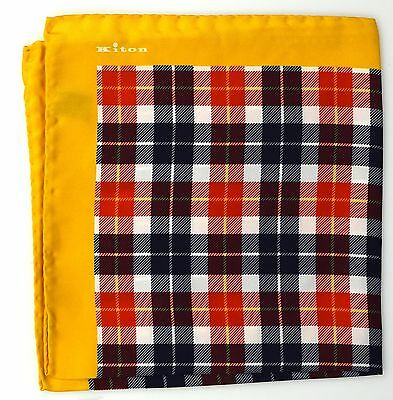 NEW 2017 KITON POCKET SQUARE 100%SILK 16x16 BEST OF THE BEST+1 KPS489
