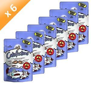 CATISFACTIONS Friandises au canard - Chat adulte et chaton - 60 g (x6)