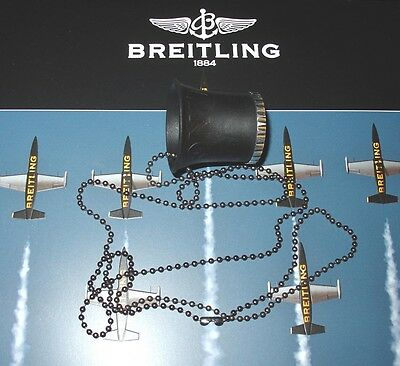 Breitling (Uhrmacher-) Lupe in schwarz / Metallring! Magnifier black/metal! TOP!