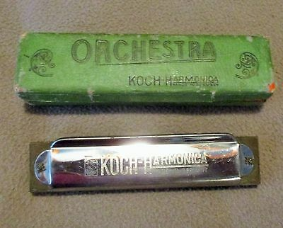 "VINTAGE KOCH HARMONICA ""ORCHESTRA "" Made in Germany WITH BOX - NICE!"