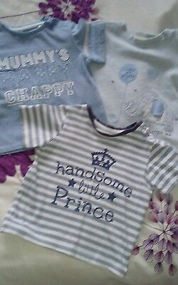 Baby boys small t shirt bundle 9-12 months