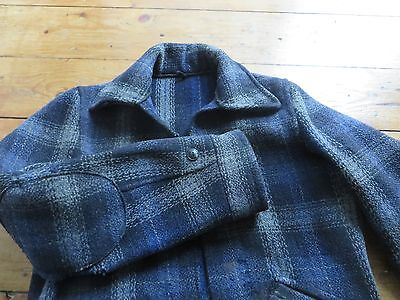 Vintage 30's 40's Montgomary Ward Plaid Wool Work Jacket Workwear