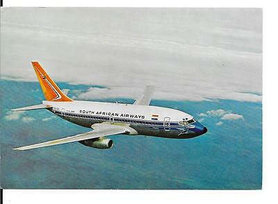 Airline issue postcard-SAA South African Airways B737 aircraft