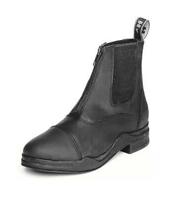 HyLAND Wax Leather Zip Jodhpur Boot | Black | UK6
