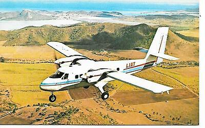 Airline issue postcard-LIAT West Indies Twin Otter aircraft