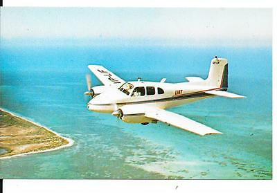 Airline issue postcard-LIAT West Indies Twin Bonanza aircraft