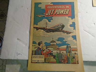 GENERAL ELECTRIC COMIC GIVEAWAY ADVENTURES IN JET POWER very rare