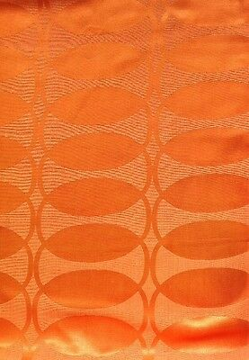 "1 Pair Vintage 60's70's Retro Orange Swirl Curtains. 55"" x 46"""