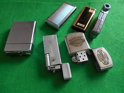 Vintage lot of Cigarette Lighters iricluding Colibri, Ronson, Silver Match