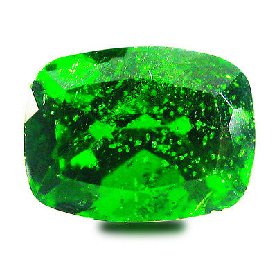 1.29 ct AAA+ Significant Cushion Shape (8 x 6 mm) Green Chrome Diopside Gemstone