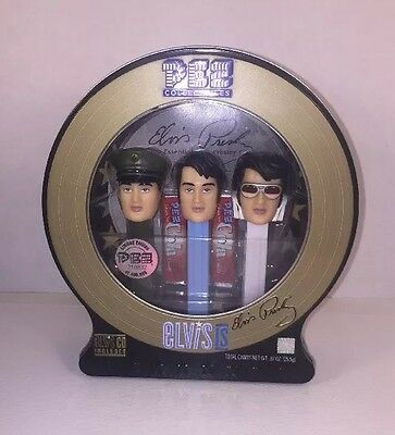 Sealed New  Elvis Presley Limited Edition Vintage PEZ Dispensers with CD 2007