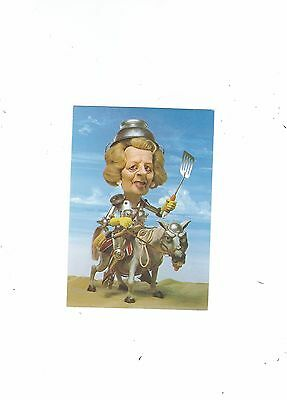 Political Postcard Thatcher The Iron Lady  Spitting Image