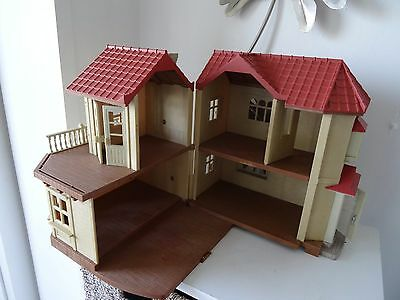Sylvanian Families house Willow Hall used read in full