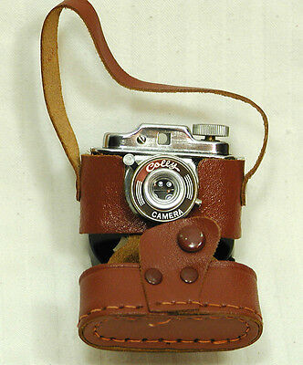 "Colly Micro Sub-Miniature Camera In Leather Case-Vintage Spy Camera -""JAPAN"""