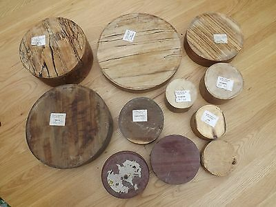 woodturning blanks -10 in all, various timbers and sizes.