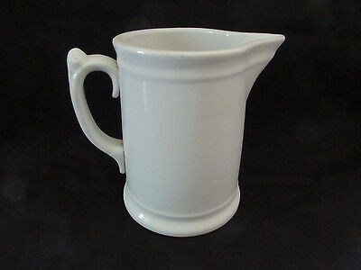 White Ironstone Pitcher Knowles Taylor Knowles Antique