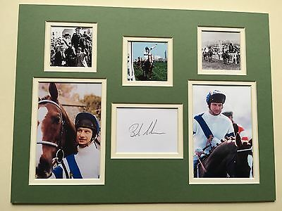 """Horse Racing Bob Champion Signed 16"""" X 12"""" Double Mounted Display"""