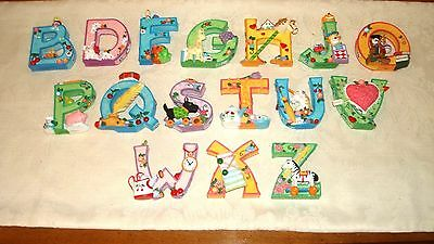 RETIRED 1999 MARY ENGELBREIT ME Alphabet Letters YOUR CHOICE Hand Painted Resin