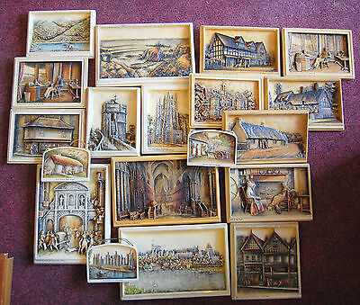 Job lot collection of 19 vintage Ivorex plaques, A. Osbourne made in England.
