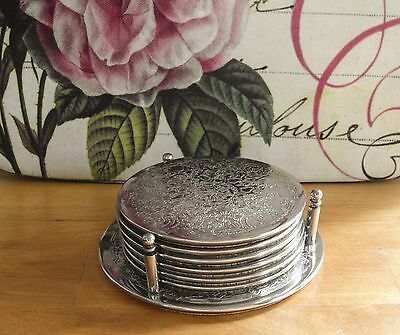 Vintage Silver Plated Cup/Glass Coasters And Stand