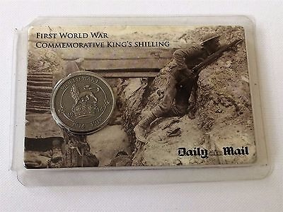 First World War (WW1) Commemorative King's Shilling Coin by The Daily Mail