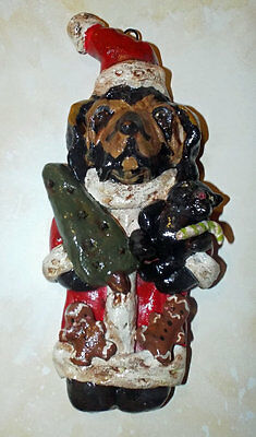 Whimsical Vintage Style Bloodhound Santa Claus Ornament Ooak New Vintage Style