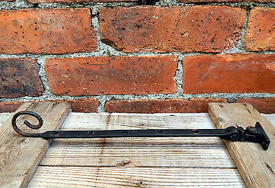 Vintage Monkey  Rat Tail Window Stay Latch Cast Iron - Curly End