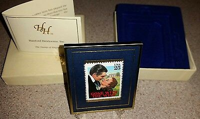 GONE WITH THE WIND 25 CENT STAMP IN GLASS FRAME w/stand. 61/5000
