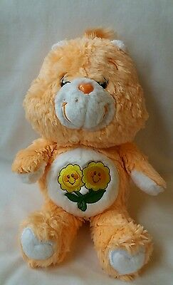 "Care Bears Friend Bear 20th Anniversary Edition 2002 Flower Faces 13"" Soft Toy"