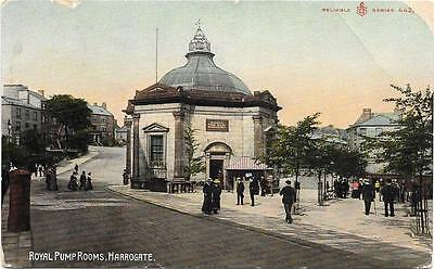 Harrogate,royal Pump Rooms,early Coloured Postcard.posted 1910