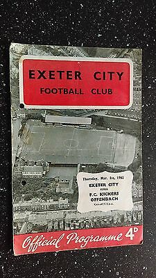 Exeter City V Kickers Offenbach 1961-62
