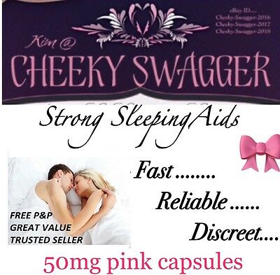 >100x Strong Sleeping Pills Sleep Aid Tablet 50mg Pink Capsules PLUS GET 25 FREE