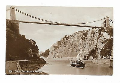Bristol, Clifton Suspension Bridge Vintage RP Postcard  137A