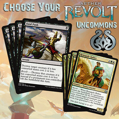 Choose Your Aether Revolt Uncommon Cards - MTG M/NM AER