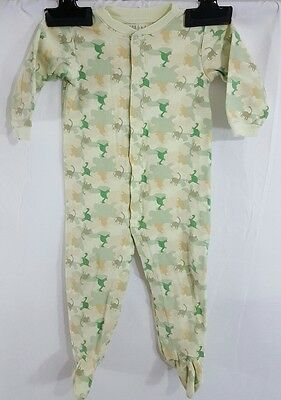 Sears Baby 18 Months Footed One Piece Sleeper - Dinosaurs