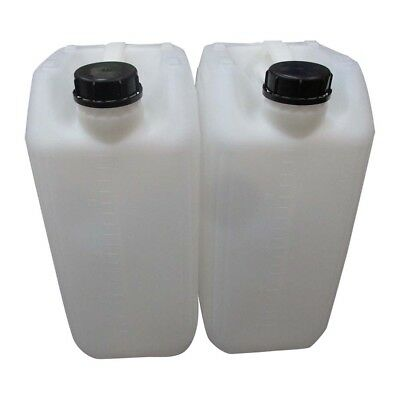 2 X 25 Litre 25L 25000Ml New Plastic Bottle Jerry Can Water Container Carrier