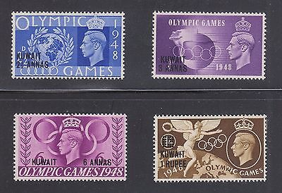 KUWAIT #84-87 Mint Lightly Hinged 1948 OLYMPIC GAMES Surcharged