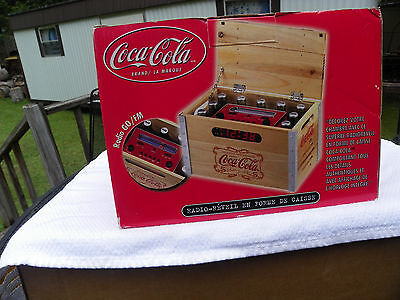 2002 Coca Cola Crate Clock Radio Mint New In Box AM?FM Alarm Radio