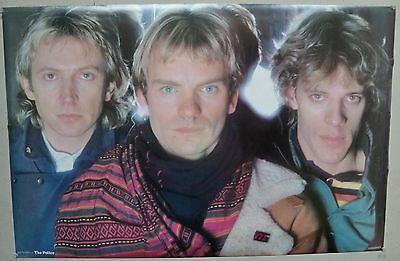 1983 Police Poster Funky Poster Up Close  Sting Andy Summers Stewart Copeland