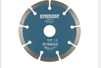 New Erbauer Segmented Diamond Blade 115 X 22.23Mm Durable High Quality