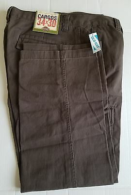 NWT Men's Old Navy Cargo Pants, Brown, 34x30, Relaxed Fit