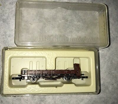 Marklin Z Scale 8658 Stake Car With Brakeman's Cab Train Car!