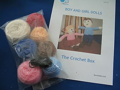Crochet Kit. Boy and girl dolls