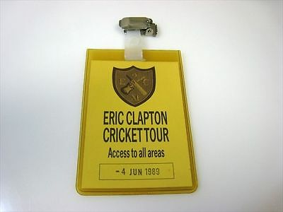 ERIC CLAPTON -- backstage pass (AAA) from 1989 Cricket tour