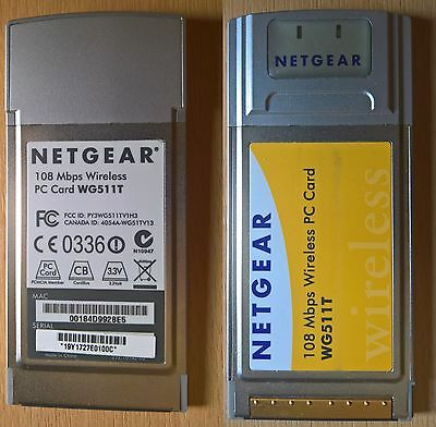 NETGEAR WG511T 108 Mbps Wireless PC Card