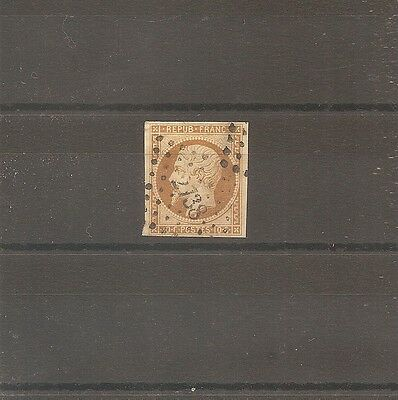 Timbre France Frankreich 1852 N°9 Oblitere Used Losange Pc 2738